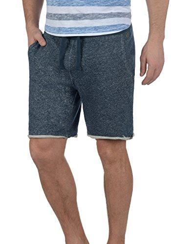 Blend Reginal Herren Sweatshorts Kurze Hose Jogginghose Mit Offenen Kanten Und Kordel Regular Fit, Größe:L, Farbe:Navy (70230) -