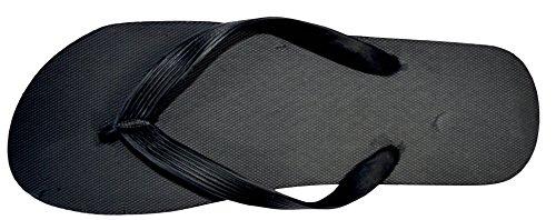 Octave , Herren Zehentrenner Solid Plain Design - Black