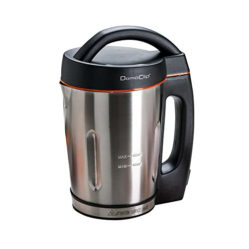 Edelstahl Küchenmaschine mit Kochfunktion mit starken 1000 Watt (Suppen-Kocher, abnehmbares Kabel, 1,6 Liter, zum Kochen von Suppen)
