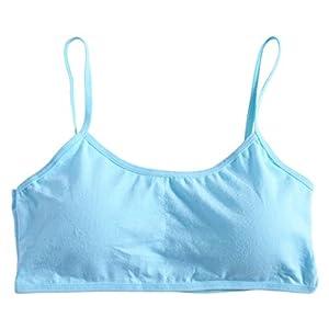 RROVE Ropa Interior Transpirable Chicas jóvenes Sujetador de algodón Suave y sólido, Pubertad Ropa Interior Transpirable… 13