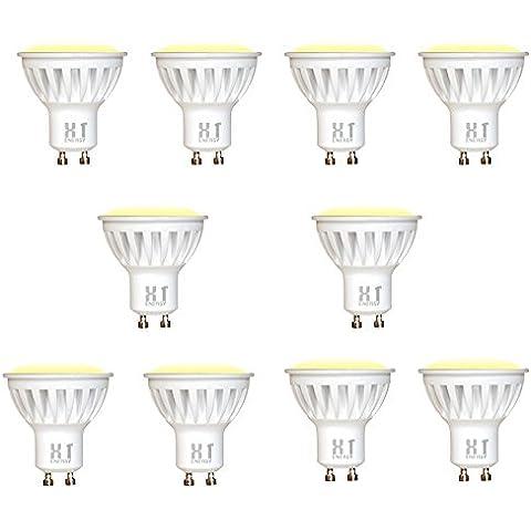 Sourcing4U X1-4w-GU10-FREDDA-10-Pack - Lampadine LED 4 W GU10, pacchetto da 10
