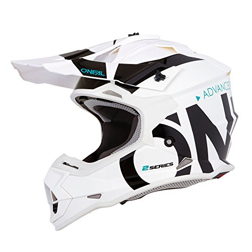 0200-S44 - Oneal 2 Series RL Slick Motocross Helmet L White Black