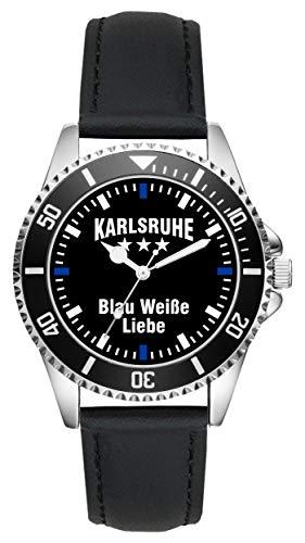 Karlsruhe Geschenk Artikel Idee Fan Uhr L-2496