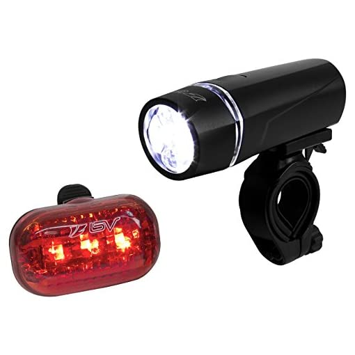 BV - Set di fanali per bicicletta con fanale anteriore a 5 LED ultra luminoso