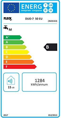 FLECK elektrischen Duo Isolierflasche duo7-50-eu 50L Energie-Effizienzklasse ENERGETICA B \ B \ M