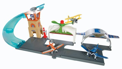 Disney Planes Hot Wheels - Aeropuerto Hélices Junction, accesorios para muñecas (Mattel Y0995)