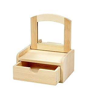 Amatola-Kei Wooden Jewellery or Trinket Box - Miniature Dresser with Mirror Design , size 12x10x6,5 cm