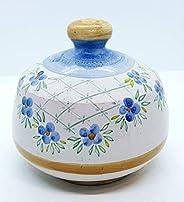 Nascondispugna Linea Classica Fiori Azzurri per Cucina e Bagno Handmade Le Ceramiche del Castello 100% Made in