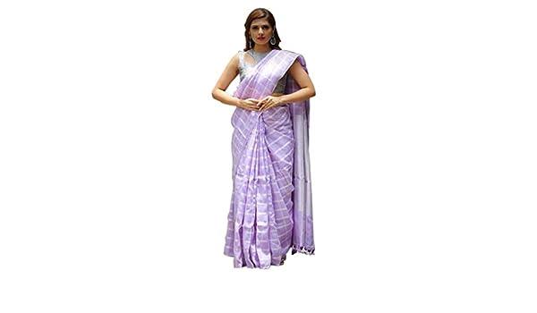 Sari Designer Lin Indiennes Radanya Femmes Tissu De Élégant RA534jLq
