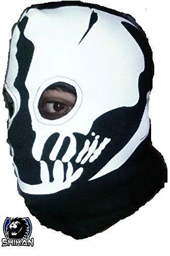 Gesicht Ski Maske Helm ('Medelin' 2Loch, Zorro Ninja, Fancy Kleid Kostüm 1Größe Senior, Sturmhaube Ghost Face Maske Skull Bike Motorrad Helm Kapuze Ski Sport Hals Gesicht Maske Halloween Horror)