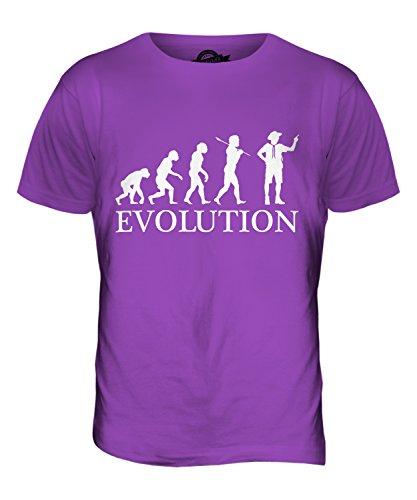 CandyMix Pfadfinderleiter Evolution Des Menschen Herren T Shirt Violett