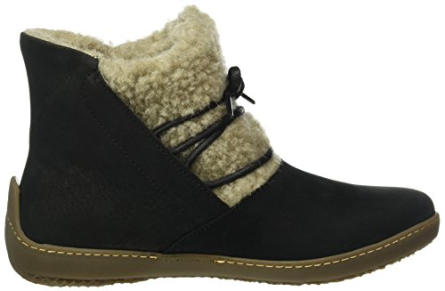 El Naturalista Nd17 Denia-Lana Zelanda Black/Bee, Scarpe Stringate Donna Nero (BLACK N01)