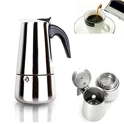 450Ml Stainless Steel Espresso Coffee Maker Stove Top 9 Cups Cafetiere from Fun Daisy