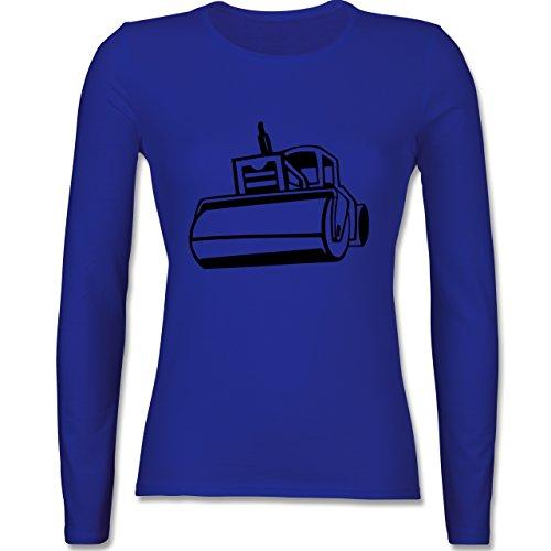 Andere Fahrzeuge - Dampfwalze - tailliertes Longsleeve / langärmeliges T-Shirt für Damen Royalblau
