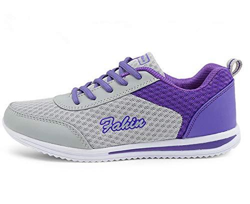 pretty nice 3e76f 2cf81 Damen Sneakers Teenager Mädchen Laufschuhe Atmungsaktiv Mesh Sportschuhe  Turnschuhe Outdoorschuhe.