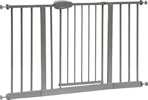 """IB-Style - Treppenschutzgitter """"Megane"""" silbermatt 74 - 143 cm   12 Varianten wählbar   Klemmgitter Treppengitter Türgitter   ohne bohren   Bef. Am Geländer   öffnet wie ein Türchen   Spannbreite 130 - 143 cm"""