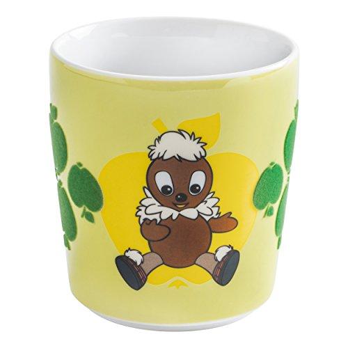 Kahla Kids Kinderbecher, Becher, Tasse, Obertasse, ohne Henkel, touch! Grün, Pittiplatsch, Porzellan, 280 ml, 394601A40073TM