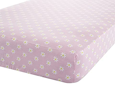 Catherine Lansfield Daisy Dreamer Double Fitted Sheet, Pink