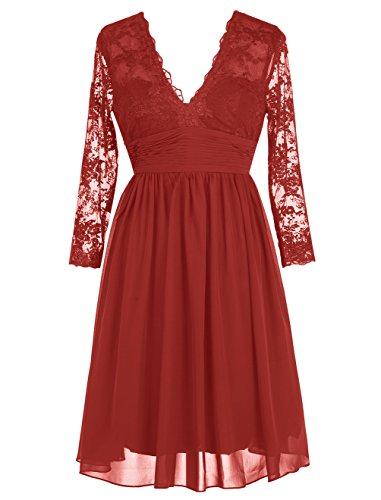 Robe de soiree rouge pour femme forte