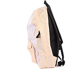 Vans Unisex Realm Polyester Backpack Bleached Apricot Checkerboard-Apricot-O/S Size O/S