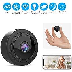 Mini Camera Espion WiFi, Full HD 1080P Caméra Cachée Spy sans Fil avec Vision Nocturne et Détection de Mouvement Micro Caméra de Surveillance de Sécurité Bébé