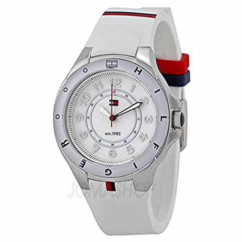 Tommy Hilfiger Tommy Hilfiger Blanc Cadran Blanc Caoutchouc Ladies montre 1781271