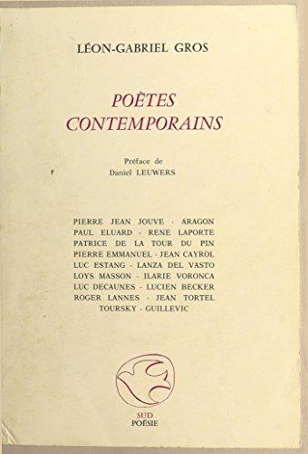 Téléchargement Poètes contemporains pdf