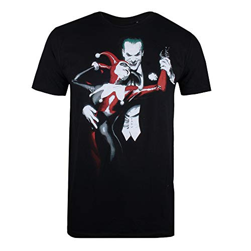 DC Comics Joker & Harley, Camiseta para Hombre, Negro (Black Blk), Medium
