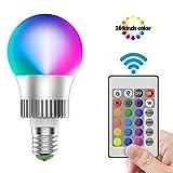 LED RGB Lampe 10W Glühbirnen Edison E27 Leuchtmittel Dimmbar Farbige Birne Glühbirne Farbwechsel warmweiß Lampen mit Fernbedienung [Energieklasse A+]