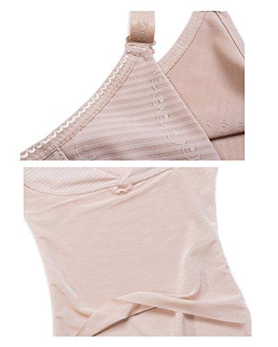MISS MOLY ShapeTop|Leicht-Figurformende Damen Unterhemd Vollere Brüste Schlankere Taile Im Kleidern Schwarz/Beige Modell1 Beige