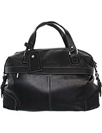 Pellevera Angelo italien en cuir grande holdall classique, bagage à main (marron)