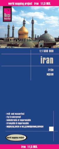 Straßenkarte: Iran,  1 : 1.500.000  große Orte auch in persischer Schrift