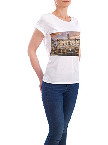 Design T-Shirt Women Earth Positive Capitoline Hill in Roma white size XL - fair & eco-friendly shirt