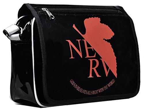 Siawasey anime giapponese Cartoon Cosplay messenger bag zaino borsa a tracolla (31modelli) nero Gintama Neon Genesis Evangelion