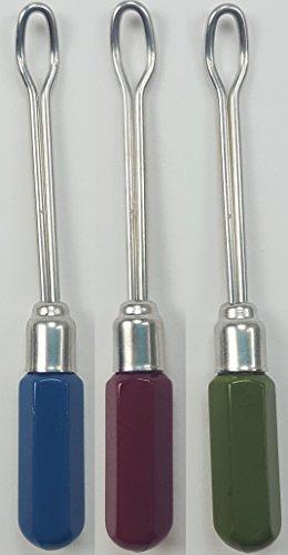 #Ohrenreiniger mit Metallschlinge blau / rot / grün#