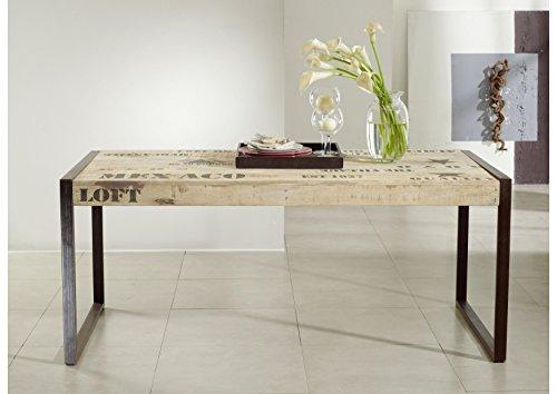 Tavolo Da Pranzo Industriale : Massiccio mobili mango legno ferro stampata tavolo da pranzo