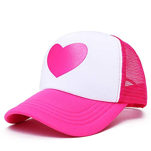 Imagen de cxknp  de beisbol mujeres lindo gravity falls dipper mabel rose heart mesh summer caps girl cool net mesh trucker hat cap summer