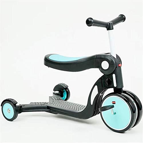Multifuncional Cinco-en-uno Vespa niños, Tobogán Slick, equilibrio del coche, triciclo de niños pueden...