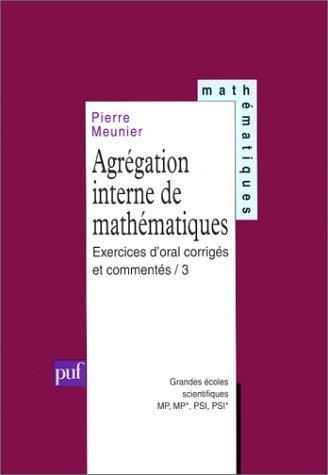 Agrégation interne de mathématiques, t...