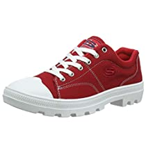 Skechers Roadies-True Roots, Sneaker Donna, Red Canvas/White Leather Trim Red, 4.5 EU