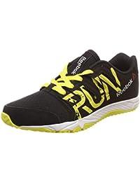 Reebok Boy's Ultra Speed JR Blck/Green/Wht Running Shoes-13.5 Kids UK (31.5 EU) (1 US) (AR1176)