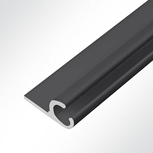 LYSEL Aluminium Kederschiene Vorzeltkederschiene Schwarz 15x30mm 3 Meter