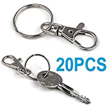 799c514deff8 Nicedeal Lot de 20 Attaches pivotantes pour Porte-clés Petit modèleHome Deco