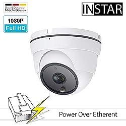 INSTAR IN-8003 Full HD (PoE) weiss - PoE Überwachungskamera - IP Kamera - Innen und Aussen - Außenkamera - Outdoor - PIR - Bewegungserkennung - Nachtsicht - Weitwinkel - IEEE 802.3af - ONVIF