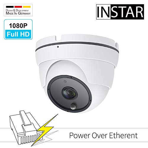 INSTAR IN-8003 Full HD (PoE Version) weiss / IP Kamera / Überwachungskamera / Weitwinkel / Power over Ethernet / wetterfeste...