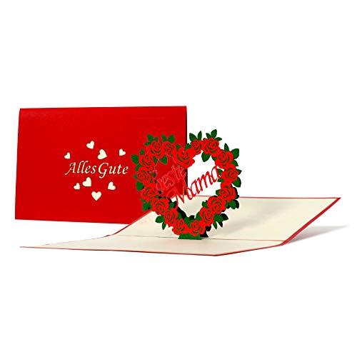 Geburtstagskarte für die Mama, Karte zum Muttertag, besonders, ausgefallen, Geschenkidee, Muttertagsgeschenk oder für Dankeschön, Geschenke, originelle Dankeskarte Mutter, G17