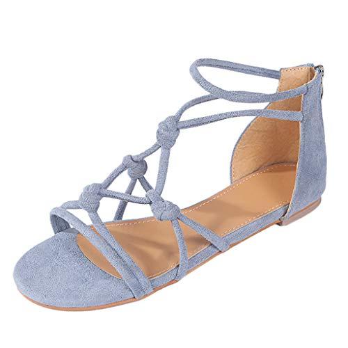 Mosstars Sandalias Mujer Verano 2019 Planas Mujer Verano Estilo Casual Playa Sandalias Zapatos Romanos Chanclas Sandalias Mujer Zapatos de Playa Mujer Sandalias de Vestir niña
