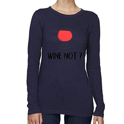 32cedf15 T-Shirt Premium - Manche Longue - Col Rond - Wine Not - Femme -