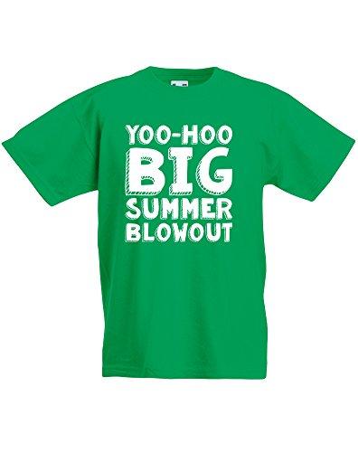 yoo-hoo-big-summer-blowout-kind-druckten-t-shirt-grun-weiss-12-13-jahre