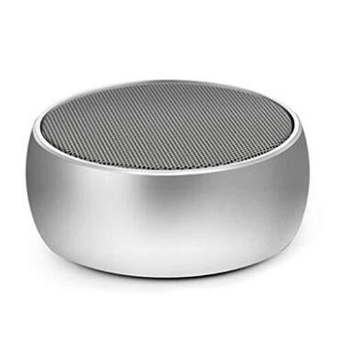 DGYAN Bluetooth-Lautsprecher Tragbare Mini-Outdoor-Wireless-Lautsprecher Metall-Stil Led Runde Eiche Schach Bluetooth-Lautsprecher (Computer-lautsprecher-runde)